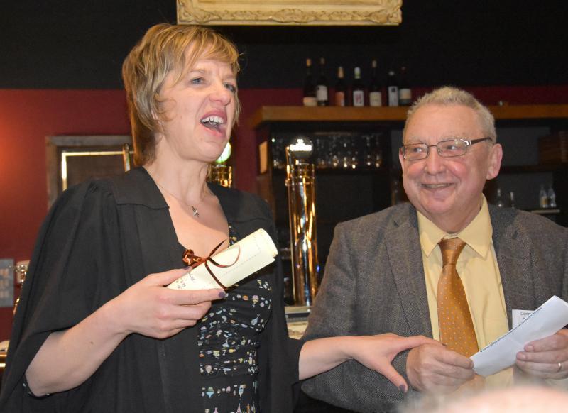 Ivana Bacik and Prof Donnchadh Ó Corráin