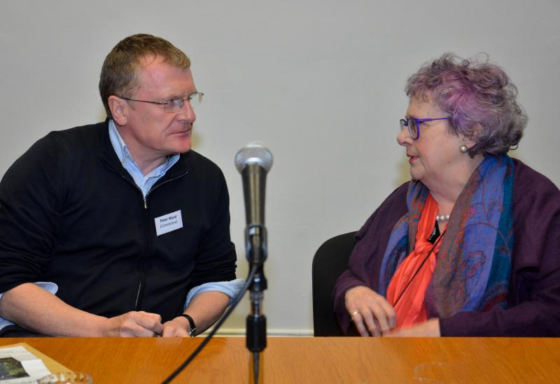 Peter Ward and author Mary Kenny